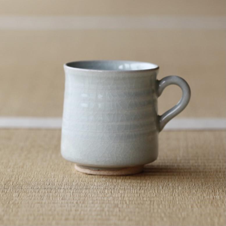【湯のみ / マグカップ】朝日焼 / ほうじ茶のためのマグ 樫灰釉